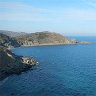 Vue des côtes de Banyuls-sur-mer
